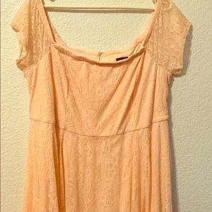 Torrid blush dress 16